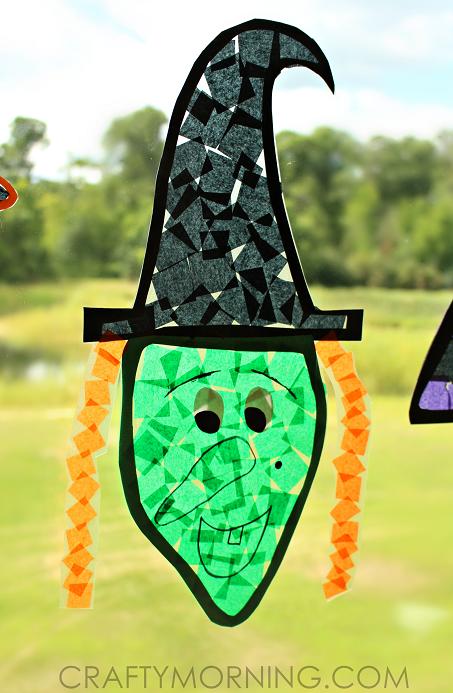 tissue-paper-halloween-witch-suncatcher-kids-craft
