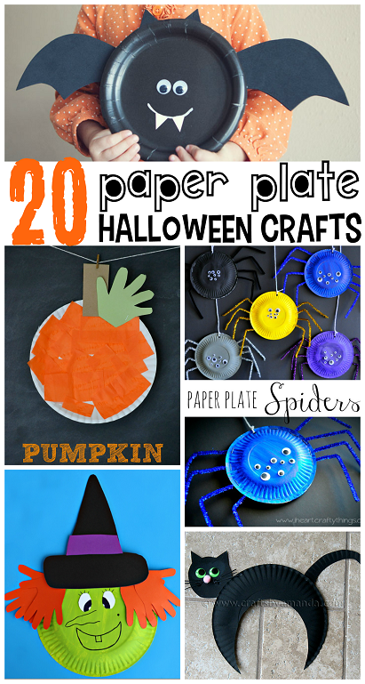 20-paper-plate-halloween-kids-crafts & Paper Plate Halloween Crafts for Kids - Crafty Morning