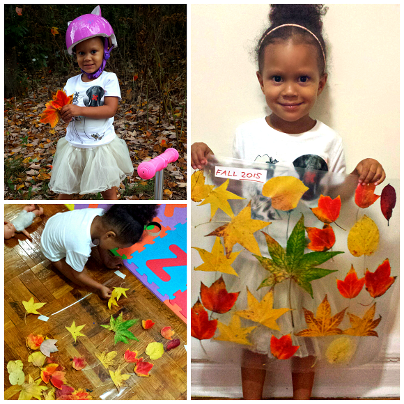 Make Leaf Collages With Contact Paper Fall Craft