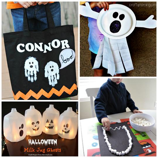 ... - Halloween... Halloween Crafts For Kids Ghosts
