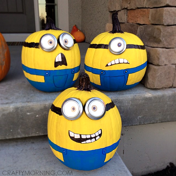 No Carve Minion Pumpkins Crafty Morning