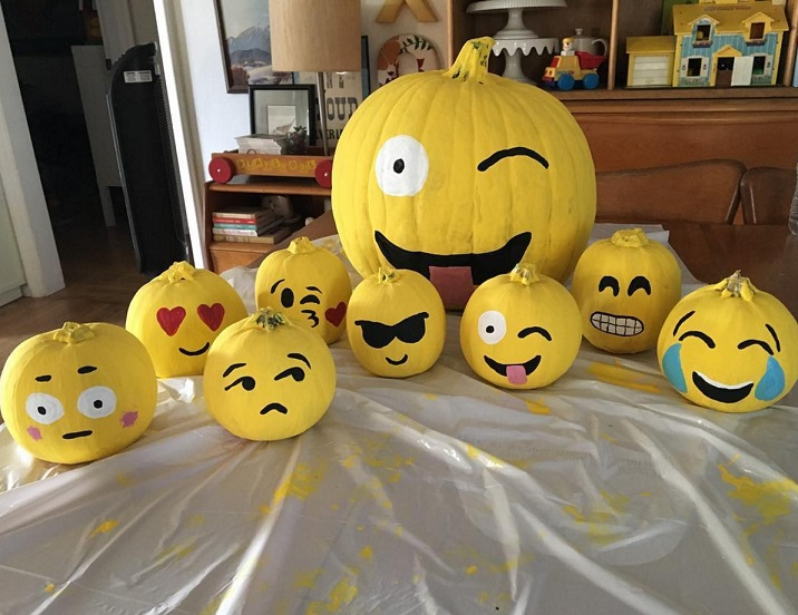 Clever no carve painted pumpkin ideas for kids crafty for A pumpkin decoration