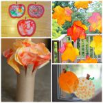 Fall/Halloween Coffee Filter Crafts for Kids
