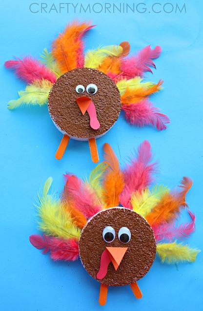 foam-disc-thanksgiving-turkey-kids-craft