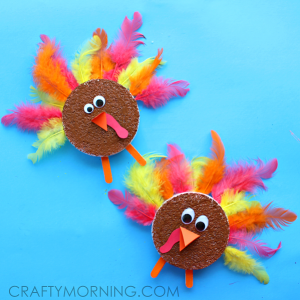 Foam Disc Turkeys (Kids Thanksgiving Craft)