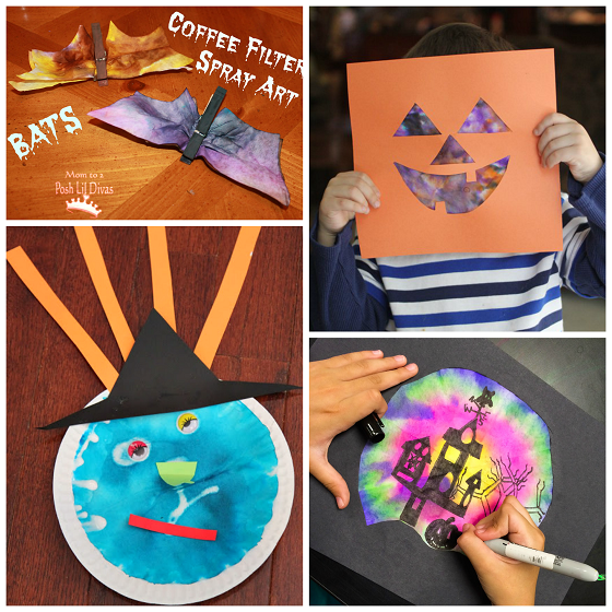Fall Halloween Coffee Filter Crafts For Kids Crafty Morning