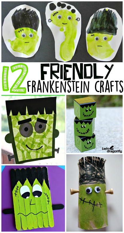 Kids Frankenstein Halloween Craft Ideas