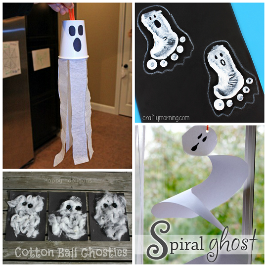 Non-Spooky Hall... Halloween Crafts For Kids Ghosts