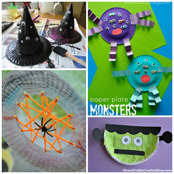 halloween paper plate crafts for kids - Halloween Crafts For Preschoolers Easy