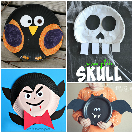 Halloween Paper Plate Kids Crafts