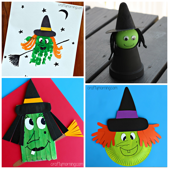 Halloween Cutouts For Kids: Witch Crafts For Kids To Make This Halloween