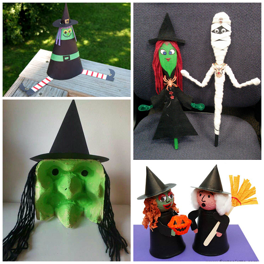 halloween witch kids craft ideas - Halloween Art For Kindergarten