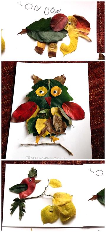 leaf-animal-crafts-for-kids-