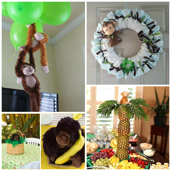 Diy monkey baby shower ideas crafty morning for Baby shower decoration ideas homemade