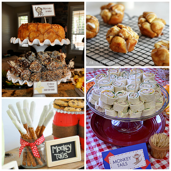 monkey baby shower food ideas