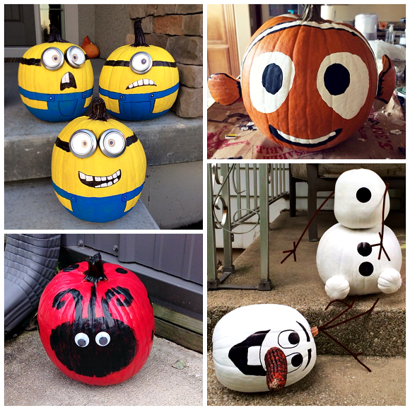 Clever no carve painted pumpkin ideas for kids crafty - Deco citrouille pour halloween ...