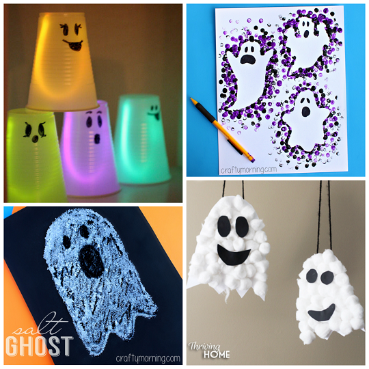 non-spooky-halloween-ghost-kids-crafts  sc 1 st  Crafty Morning : paper plate ghost craft - pezcame.com