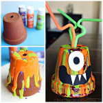 Paint Drip Monster Pots (Kids Halloween Craft)
