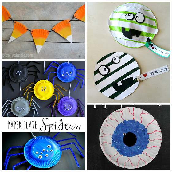 Halloween Craft Decorations: Paper Plate Halloween Crafts For Kids
