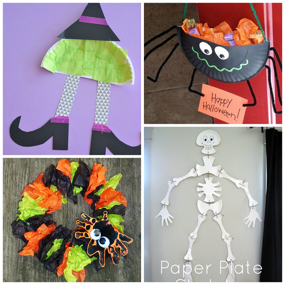 Craft Ideas With Paper For Kids Part - 47: Paper-plate-halloween-kids-craft-ideas