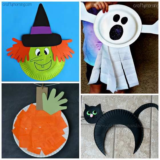 paper plate halloween kids crafts