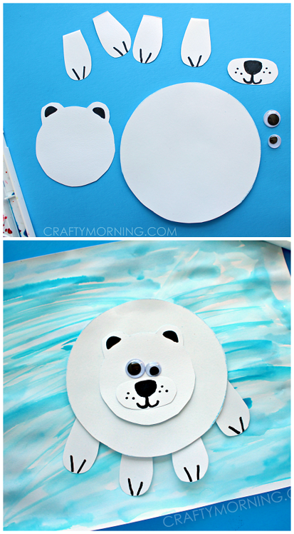 polar bear crafts for preschoolers paper polar on craft for crafty morning 976
