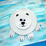 Paper Polar Bear on Ice Craft for Kids