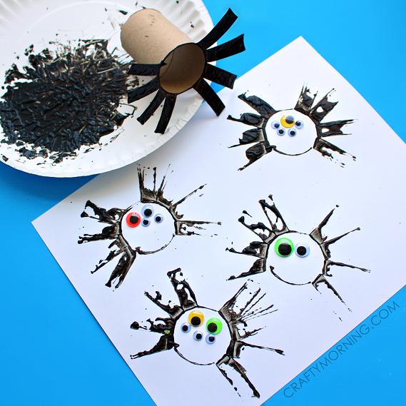 toilet-paper-roll-spider-halloween-kids-craft