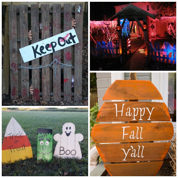 best halloween wood pallet decorations crafty morning - Wooden Halloween Decorations