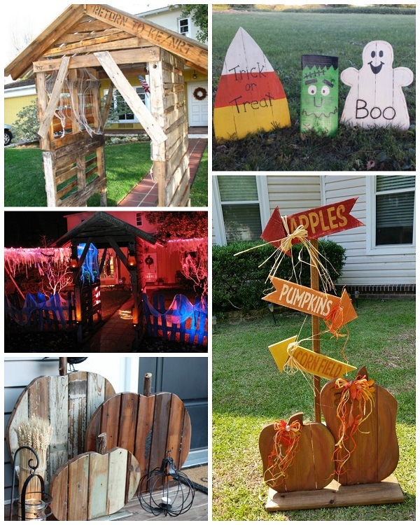 best wood pallet halloween decorations - Wooden Halloween Decorations