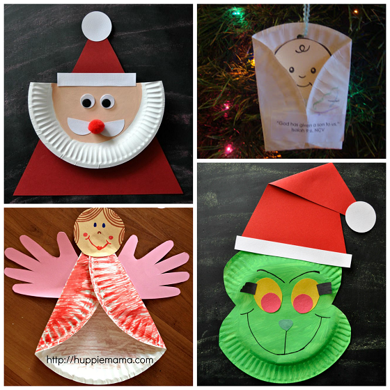 Christmas Paper Plate Crafts For Kids