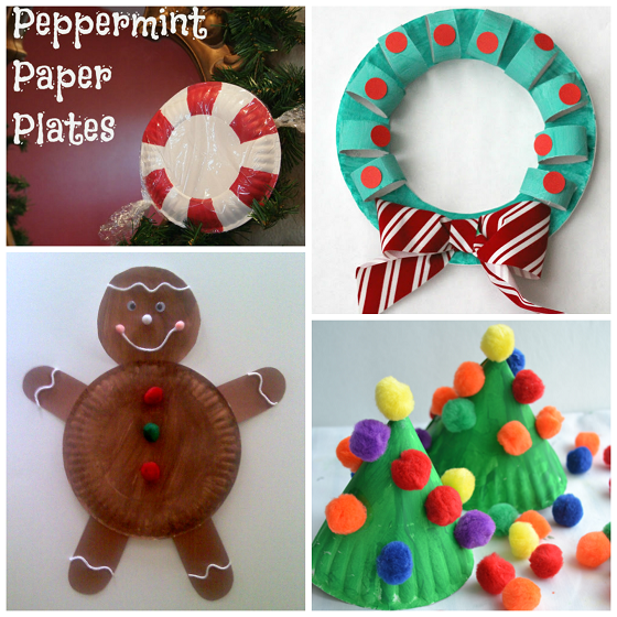 Christmas Paper Plate Kids Crafts