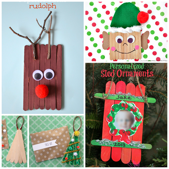 Christmas Popsicle Stick Kids Crafts