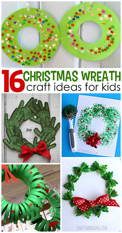 Christmas wreath craft ideas for kids crafty morning for Free christmas crafts for kids