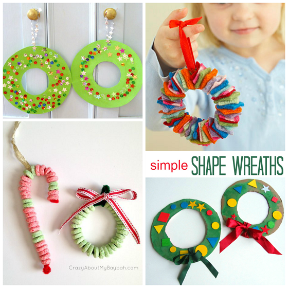 Christmas wreath craft ideas for kids crafty morning for How to christmas crafts