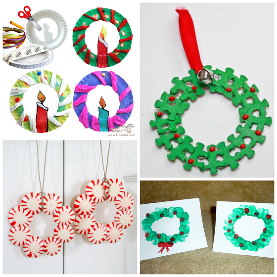 Ornament Craft Ideas For Kids Part - 44: Christmas-wreath-crafts-for-kids-
