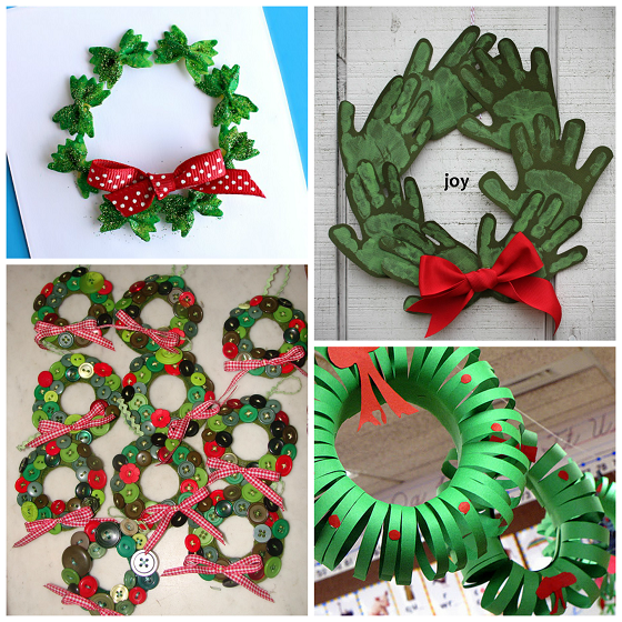 christmas wreath crafts for kids - Christmas Decoration Ideas For Kids