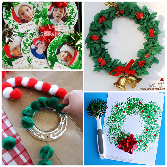 christmas wreath kids crafts