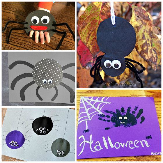 Halloween Cutouts For Kids: Cutesy Spider Crafts To Make For Halloween