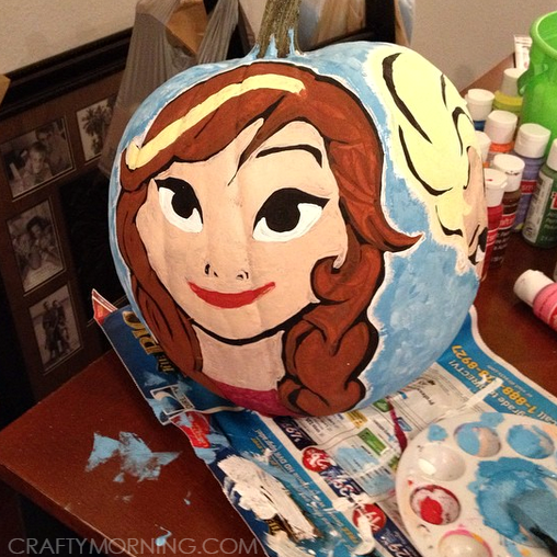 Amazing Disney Frozen Pumpkin Ideas Crafty Morning
