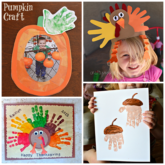 Fall handprint craft ideas for kids crafty morning for Simple fall crafts for kids