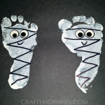 Footprint Mummies (Kids Halloween Craft)