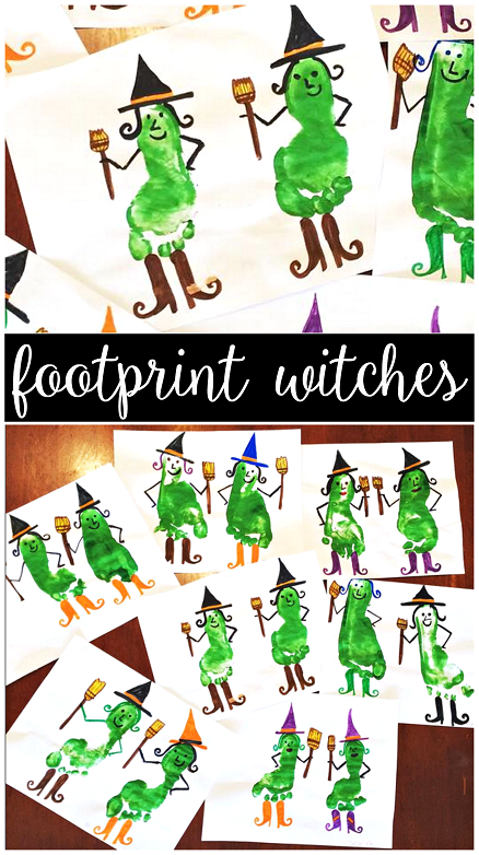 halloween handprint and footprint art creative crafts for to make crafty morning 6671