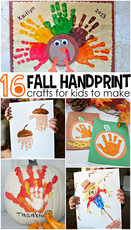 Fall handprint craft ideas for kids crafty morning for Fall ideas crafts