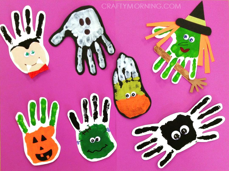 halloween handprint and footprint art adorable handprint footprint crafts crafty morning 6671