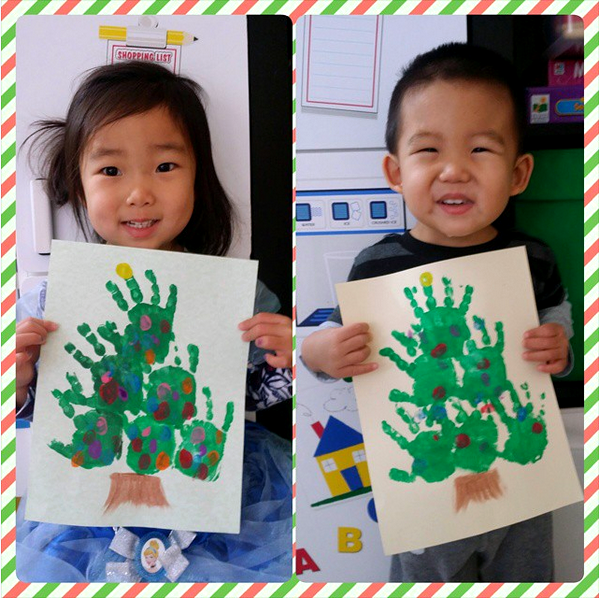 Handprint Christmas Tree Kids Craft Idea