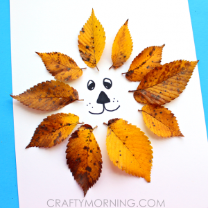Easy Leaf Lion Kids Craft