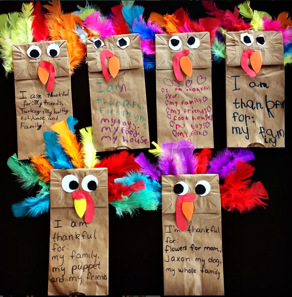 Paper bag turkey puppets thanskgiving craft crafty morning for Thanksgiving turkey arts and crafts
