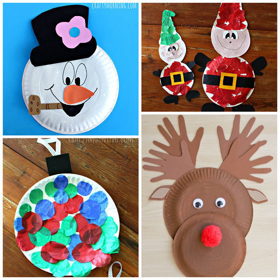 Toddler Christmas Craft Ideas Part - 38: Paper-plate-christmas-crafts-for-kids
