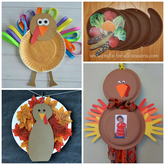 Paper Plate Thanksgiving Crafts Kids